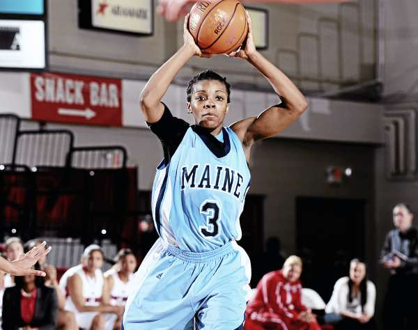 Maine junior guard Brittany Williams scored a team high 13 points in her team's 76-55 loss to Stony Brook University Thursday night.