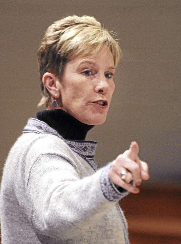 Alison Machaiek, drama coach at the Rockland District High School.