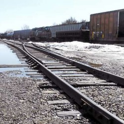Located in Hermon, the Northern Maine Junction is where the Pan Am and Montreal, Maine & Atlantic rail lines meet.