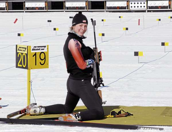 Grace Boutot put in countless hours on the course and on the range at the 10th Mountain Ski Center in Fort Kent on her way to several national and North American biathlon titles.