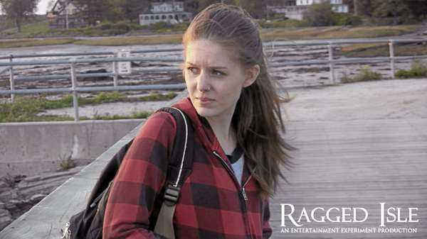 "Meghan Benton as Vicki stars in ""Ragged Isle."""