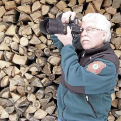Bill Bentley takes an exposure reading on his favorite camera, a Nikon D-700. The Registered Maine Master Guide has been shooting photos for 45 years and has several tips to improve your hiking photos.