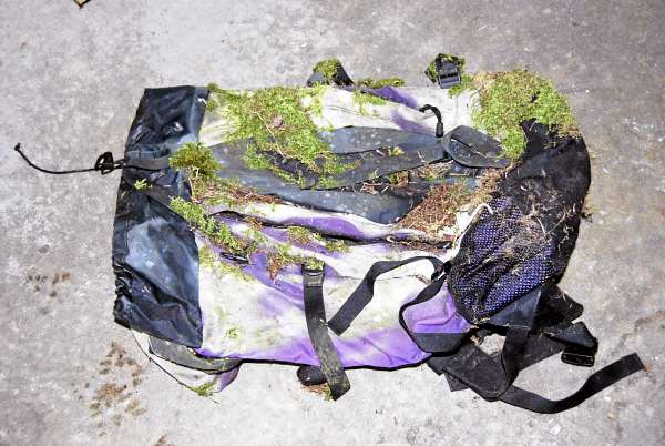 This backpack was among items recovered from Little Duck Island last fall after authorities discovered an abandoned campsite there. The Hancock County Sheriff's Office is investigating that discovery in an effort to determine why the items were left there and what, if anything, happened to the owner.