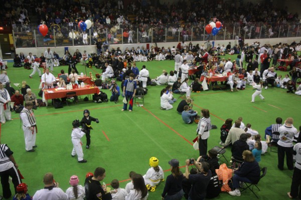 Hundreds of spectators and competitors packed Sukee Arena in Winslow on Saturday at the 31st annual Battle of Maine Martial Arts Championships. Governor Paul LePage declared Saturday Martial Arts Day in Maine. Proceeds from the Battle of Maine will go to help the Children's Miracle Network.