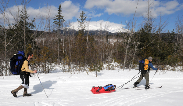 Winter trip to climb Mount Katahdin in Baxter State Park in March 2011.
