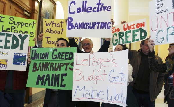 Proponents of Maine Gov. Paul LePage's proposals to change the pension system