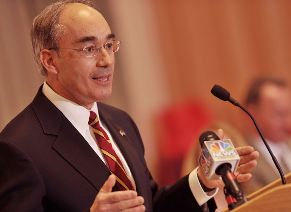 Bruce Poliquin speaks at at Husson University in March 2011.