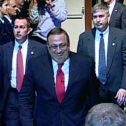 LePage in fighter jet simulator: 'I want to find the Press Herald building and blow it up'