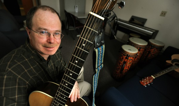 Joe Brochu is nurse manager for the Child and Partial Program at the Acadia Hopital in Bangor. Brochu and other clinicians there have brought the Pay it Forward concept into the program as a way to help treat behaviorally troubled youth. One boy who Brochu and his former colleague Cindy Emerson worked with found comfort in playing the guitar.