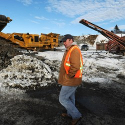 Thomas Critchley, operations manager of the Port of Eastport, walks through the $8 million port expansion in March.