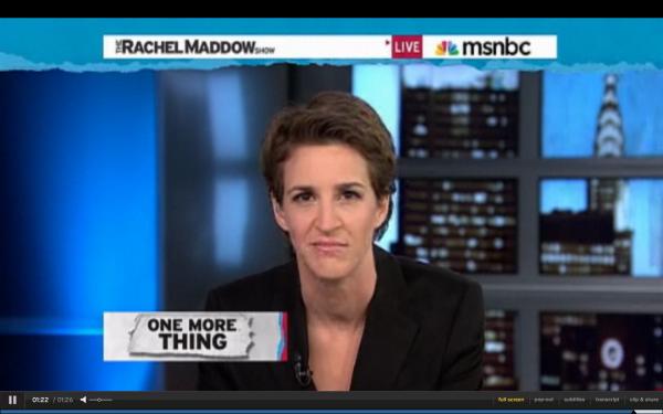 Rachel Maddow lambastes Paul LePage on her MSNBC show.