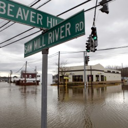 Wet Northeast watches skies, worries about floods