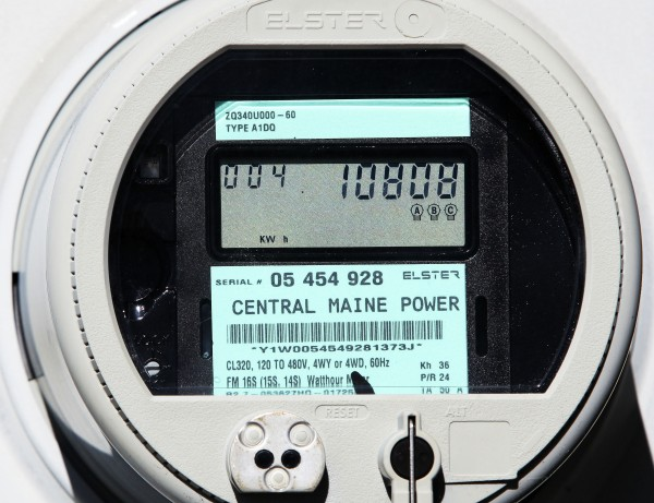 A Central Maine Power &quotsmart meter&quot displays electricity usage at a business in Freeport, Maine, Thursday, Oct. 14, 2010. Some customers are balking out of health concerns over wireless signals emitted from the meters.
