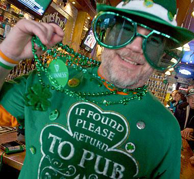 David &quot??Chris&quot? Doe of Bath celebrates St. Patrick'??s Day last year at Byrnes Irish Pub in Bath. The city hosts its third annual Bath Blarney Days celebration for the next week.