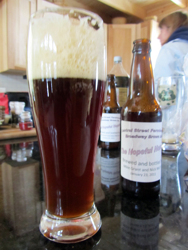 Bangor Daily News copy editor Nick McCRea's first home-brew venture resulted in a batch of Broadway Brown Ale, a middle-of-the-road beer with more flavor than a light beer but less overpowering than a porter of dark brew.