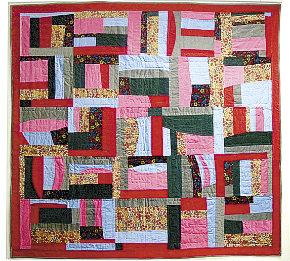 """Corduroy Basic Weave Variation"" quilt stitched by Richard Caro in 2008. He will conduct quilting classes April 3, 10 and 17 at the Farnsworth Art Museum in Rockland."