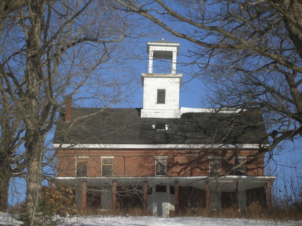 The bell tower at Wilson Hall in Bucksport has a definite lean to it, the result of years of neglect. Bucksport town councilors have started the process to condemn the building and have it torn down.