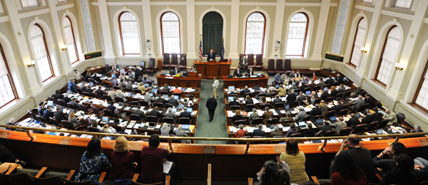 People in the gallery watch the Maine Legislature in Augusta in action on Tuesday.