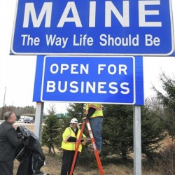 LePage's 'Open for Business' sign replaced