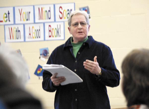 Stearns High School teacher Terry Given was among several residents who urged the Millinocket School Committee during a committee meeting at Stearns on Tuesday, March 29. to continue its international student program because its estimated revenues would help maintain the school's quality, not cut program. Historically, Given said, &quotit's always been about, what can we cut?&quot