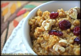 Steel-cut oats cooked overnight with dried cranberries make for a healthful, comforting and ready-to-eat breakfast.