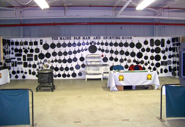 Shuck's setup at last year's Pine Tree State Sportsman Show, which this year is March 18-20 in Winslow.