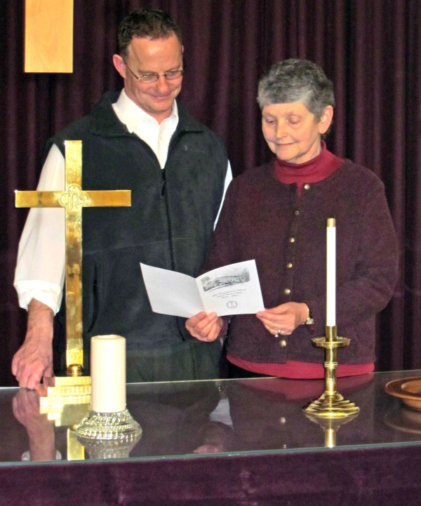 Retired Rev. Dale Holden (at right) will become the pastor emerita at a special service to be held Sunday, March 27, at the First Congregational Church located at 45 High St. in Houlton.