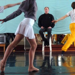 "Keith Robinson, artistic director of Robinson Ballet, oversees a rehearsal of upcoming spring performances in the company's Bangor studios on Saturday, March 26. Performances of ""Aurora's Wedding"" and ""Robinson LIVE 2011"" will be held in April at both The Grand in Ellsworth and Hauck Auditiorium at the University of Maine in Orono."