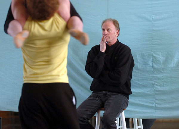 Keith Robinson, artistic director of Robinson Ballet, oversees a rehearsal of upcoming spring performances in the company's Bangor studios.