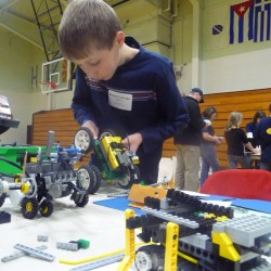 Robotics program serious work, play