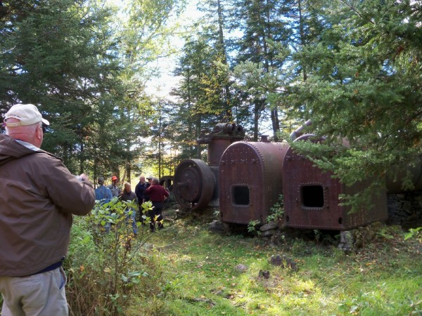 The steam engines that powered the tramway between Eagle and Chamberlain lakes are testament to the earlier days of logging in the Allagash region.
