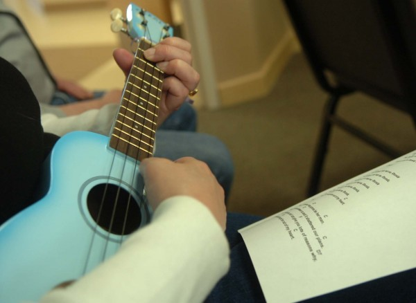"After viewing the documentary film ""Mighty Uke,"" participants in the ukulele workshop were given the chance to play the instrument and provided with sheet music of popular songs. The ukulele workshop was held on Saturday at the Newport Cultural Center in Newport."