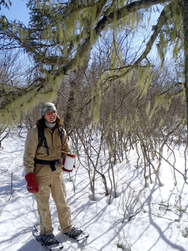 Gail and John Kraft of Jackson found that snowshoeing this winter was a good way to stay fit and active.