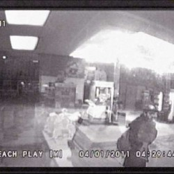 Burglary at Levant Corner Store caught on tape