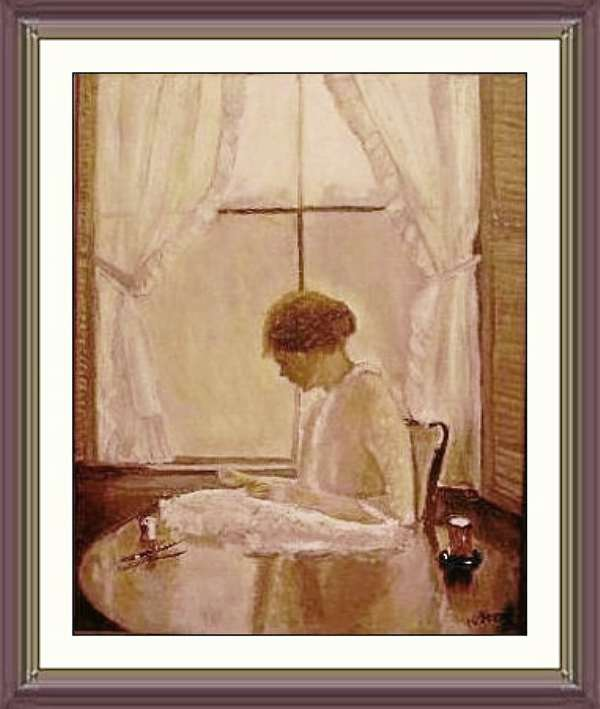 """Woman by Window"" painting by Norman Stern, reprinted with his permission."