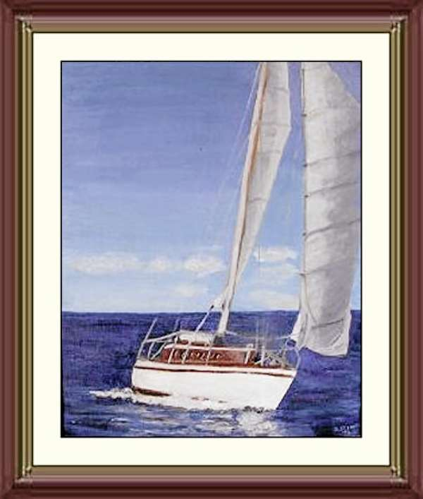 """Sailing"" painting by Norman Stern, reprinted with his permission."