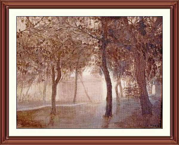 """Dawn in the Woods"" painting by Norman Stern, reprinted with his permission."