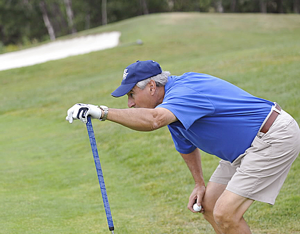 Nick Carparelli of Dedham lines up his putt on the second hole during the Bangor Golf Classic at Bangor Municipal Golf Course last season. Bangor Muni opens for the season Friday along with Kebo Valley in Bar Harbor, J.W. Parks in Pittsfield and Country View in Brooks. Northport Golf Club opens Saturday.