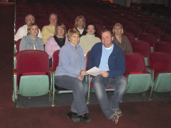 Members of the Pittsfield Community Theatre Fund Raising Committee gathered on Thursday, April 21, 2011 to accept a $5,000 challenge grant from the Greater Pittsfield Area Kiwanis.