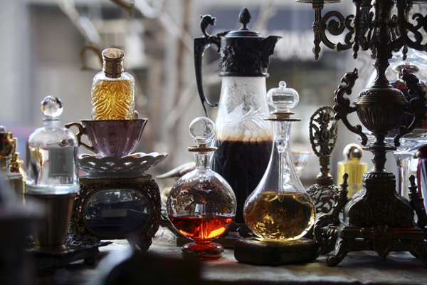 Antique perfume bottles perfect for perfume, scented home fragrances, candles and cologne.