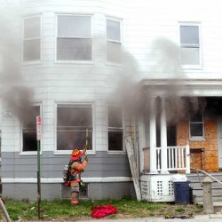 Lewiston firefighters battle apartment fire