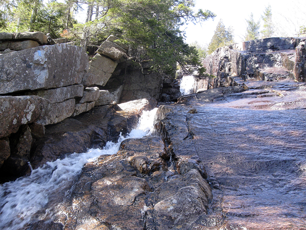 The small canyon high on the Canon Brook Trail in Acadia National Park recently.