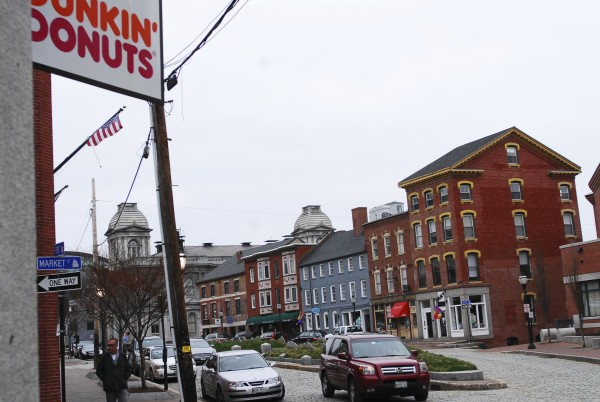 A Dunkin Donuts franchise opened in the heart of the Old Port several years ago, tucked in amidst cobblestone streets and old buildings. Around the state, communities try to strike a balance between maintaining local character in downtowns and allowing in franchise operations.
