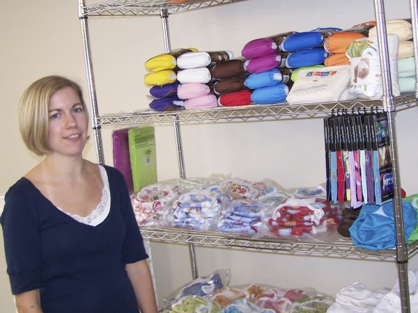 Liz Hudson of Southwest Harbor recently started a small business, Dandy Diaper Service, to deliver laundered cloth diapers to parents through Downeast and Eastern Maine. Cloth diapers have seen a resurgence in recent years, especially among environmentally conscious parents who want an alternative to disposables.