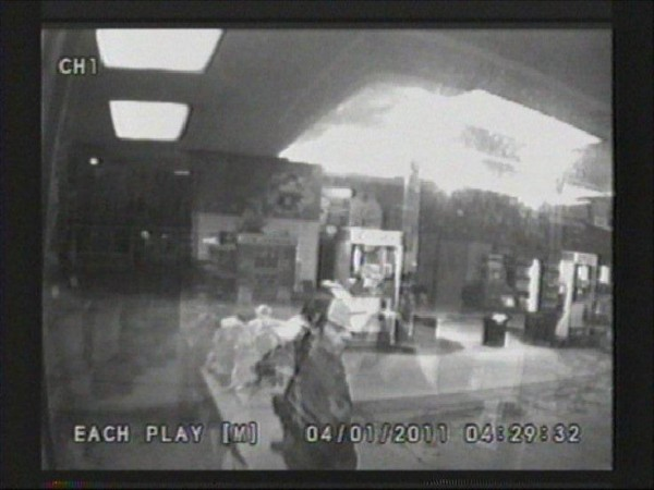 The Bangor Police Department released surveillance footage of a suspect in an armed robbery early Monday at the Big Apple convenience store on State Street.