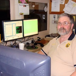 Doug Roberts of Dover-Foxcroft retired his Piscataquis County Sheriff's Department badge Friday after 40 years in law enforcement. Roberts spent the first part of his career with the Dover-Foxcroft Police Department and the latter years with the sheriff's department.