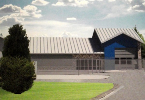A rendering illustrates what the garage area of the new $5.4 million port-of-entry in Forest City will look like once it is completed next year.The new port is needed, according to U.S. Customs and Border Protection officials, to prevent illegal activity and provide for better traffic control. It also will enhance safety, as the old port has no inspection booth or holding cell for violators, inadequate fire and life safety systems, a poor vehicle entry perimeter, inadequate lighting and the presence of hazardous materials. Taken in Forest City, April 28, 2011