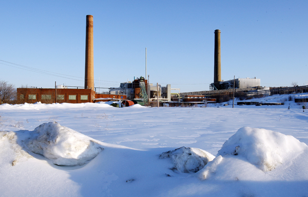 The paper mill sits idle in Millinocket, Maine