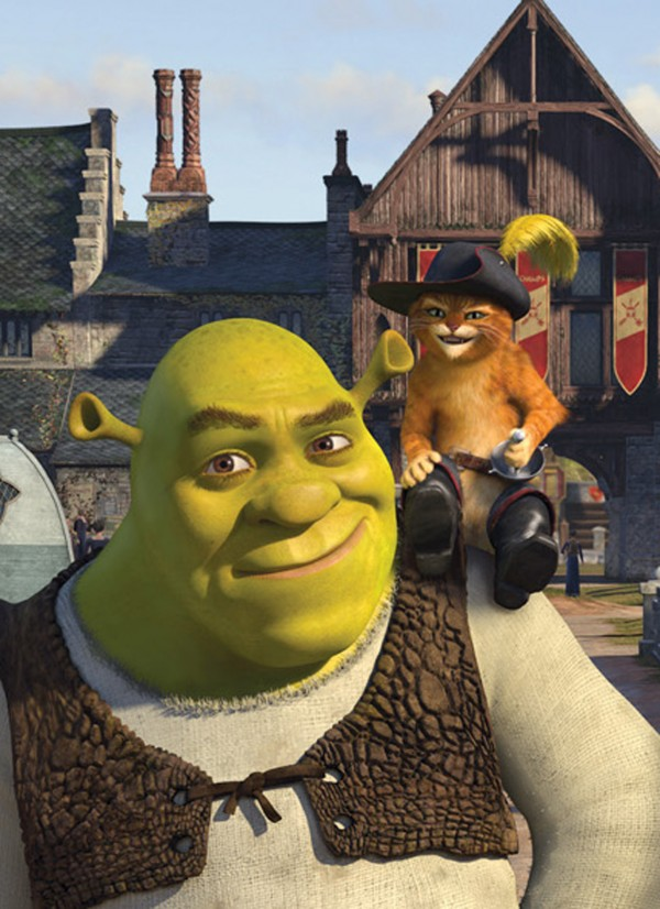 Shrek (Mike Myers) and Puss in Boots (Antonio Banderas) in &quotShrek the Third.&quot