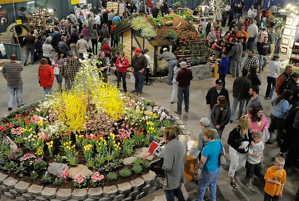 A gardenscape by Sprague Nursery and Garden Center, featuring over a dozen flora, was among the attractions at the Bangor Garden Show at Bangor Auditorium this weekend. The three-day show, which ended Sunday, featured eight gardenscapes by area designers as well as vendor booths and demonstrations. Photographed Sunday, April 10, 2011.